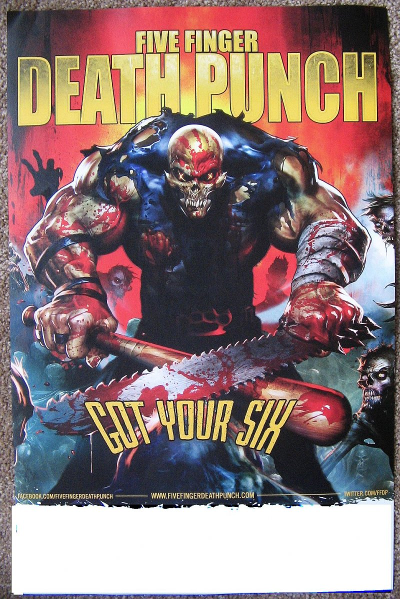 Image 1 of FIVE FINGER DEATH PUNCH 2-Sided Album POSTER Got Your Six