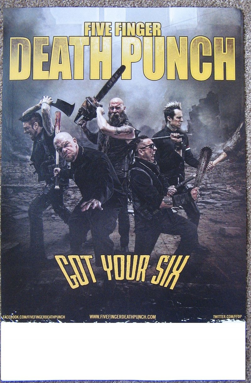 Image 2 of FIVE FINGER DEATH PUNCH 2-Sided Album POSTER Got Your Six