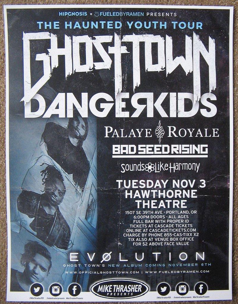 GHOST TOWN 2015 Gig POSTER Evolution Portland Oregon Concert