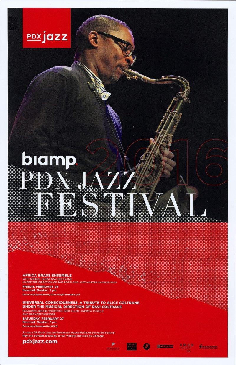 AFRICA BRASS ENSEMBLE 2016 POSTER PDX Jazz Festival Portland Oregn Concert
