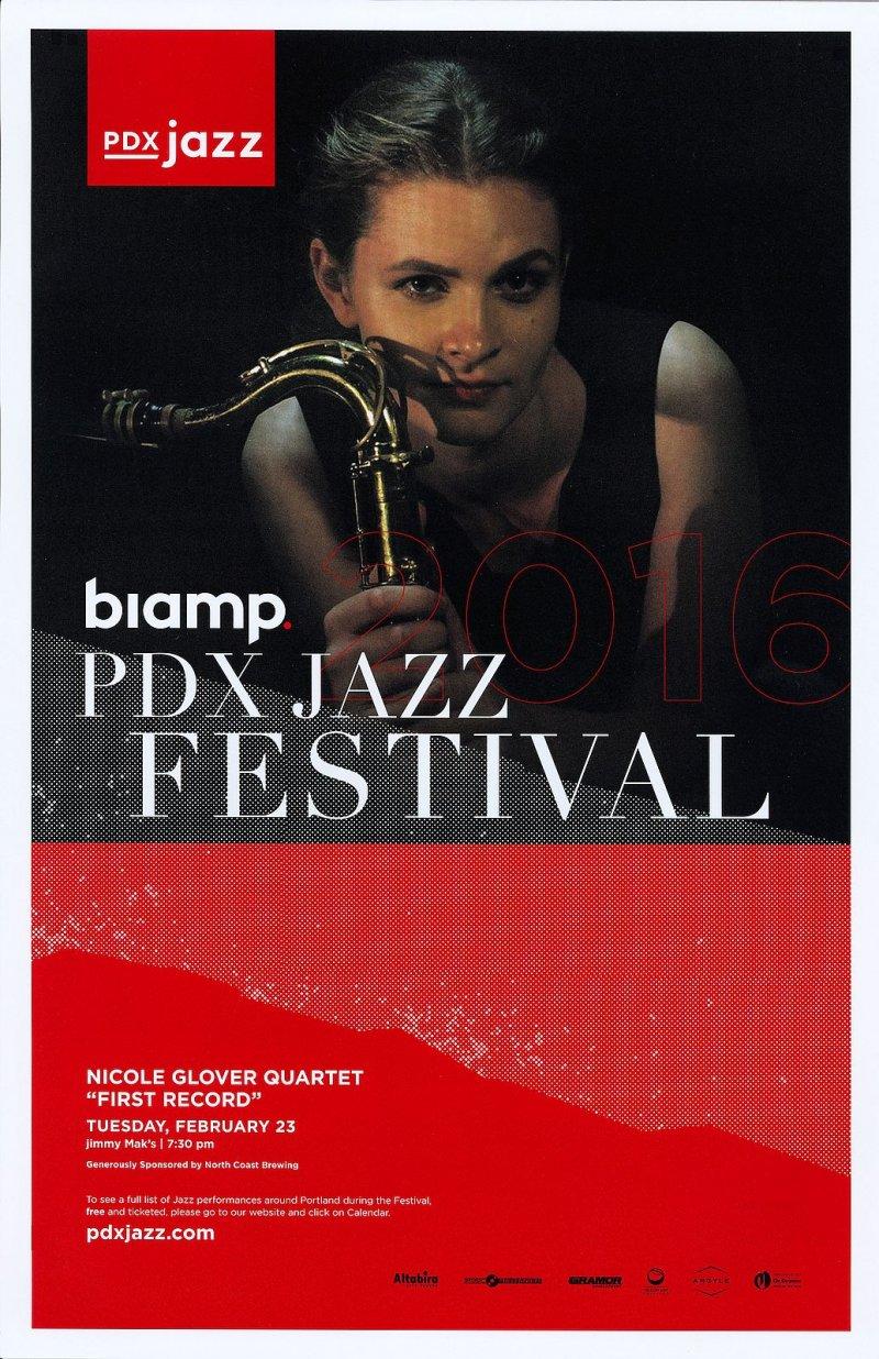 Glover NICOLE GLOVER QUARTET 2016 POSTER PDX Jazz Festival Portland Oreg Concert