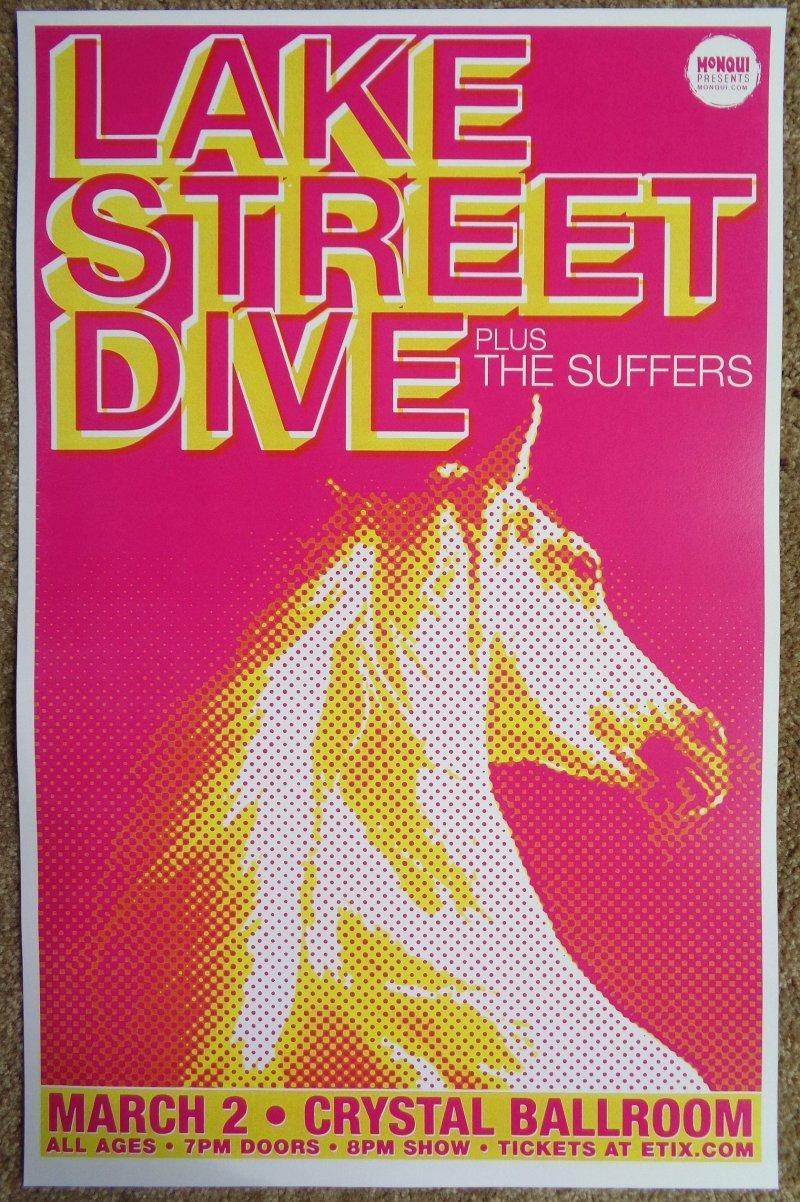 Image 0 of LAKE STREET DIVE 2016 Gig POSTER Portland Oregon Concert