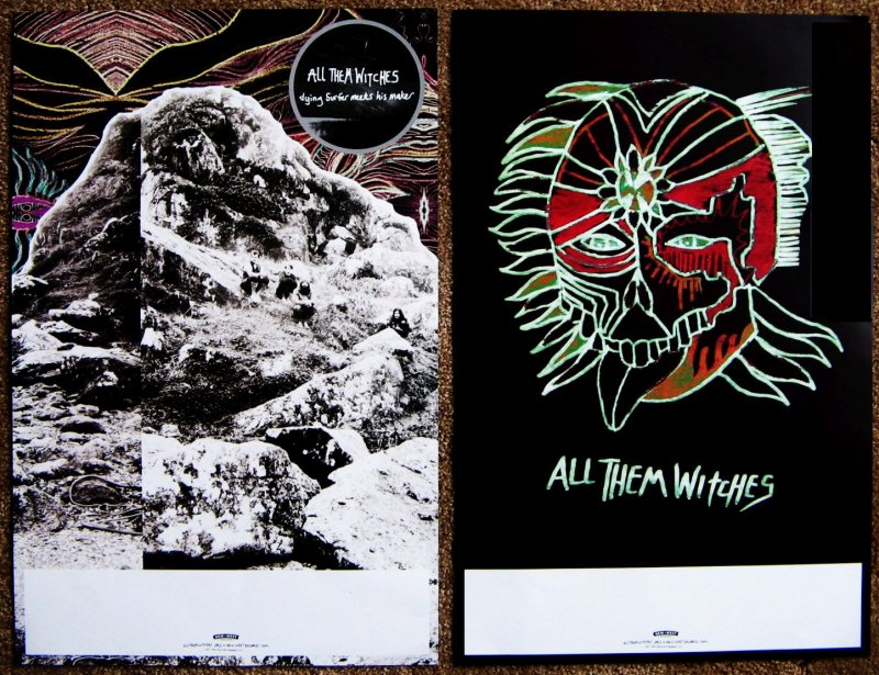 ALL THEM WITCHES Album POSTER Dying Surfer Meets His Maker 2 Sided 11X17