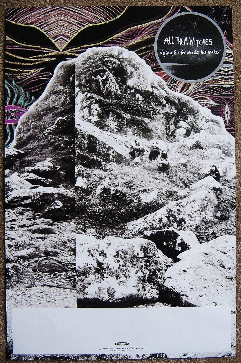 Image 1 of ALL THEM WITCHES Album POSTER Dying Surfer Meets His Maker 2-Sided 11X17