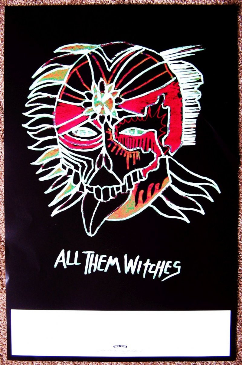 Image 2 of ALL THEM WITCHES Album POSTER Dying Surfer Meets His Maker 2-Sided 11X17