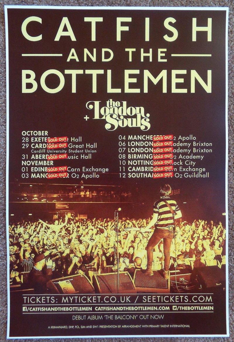 Image 0 of CATFISH AND THE BOTTLEMEN Tour POSTER 2015 United Kingdom Gig Concert
