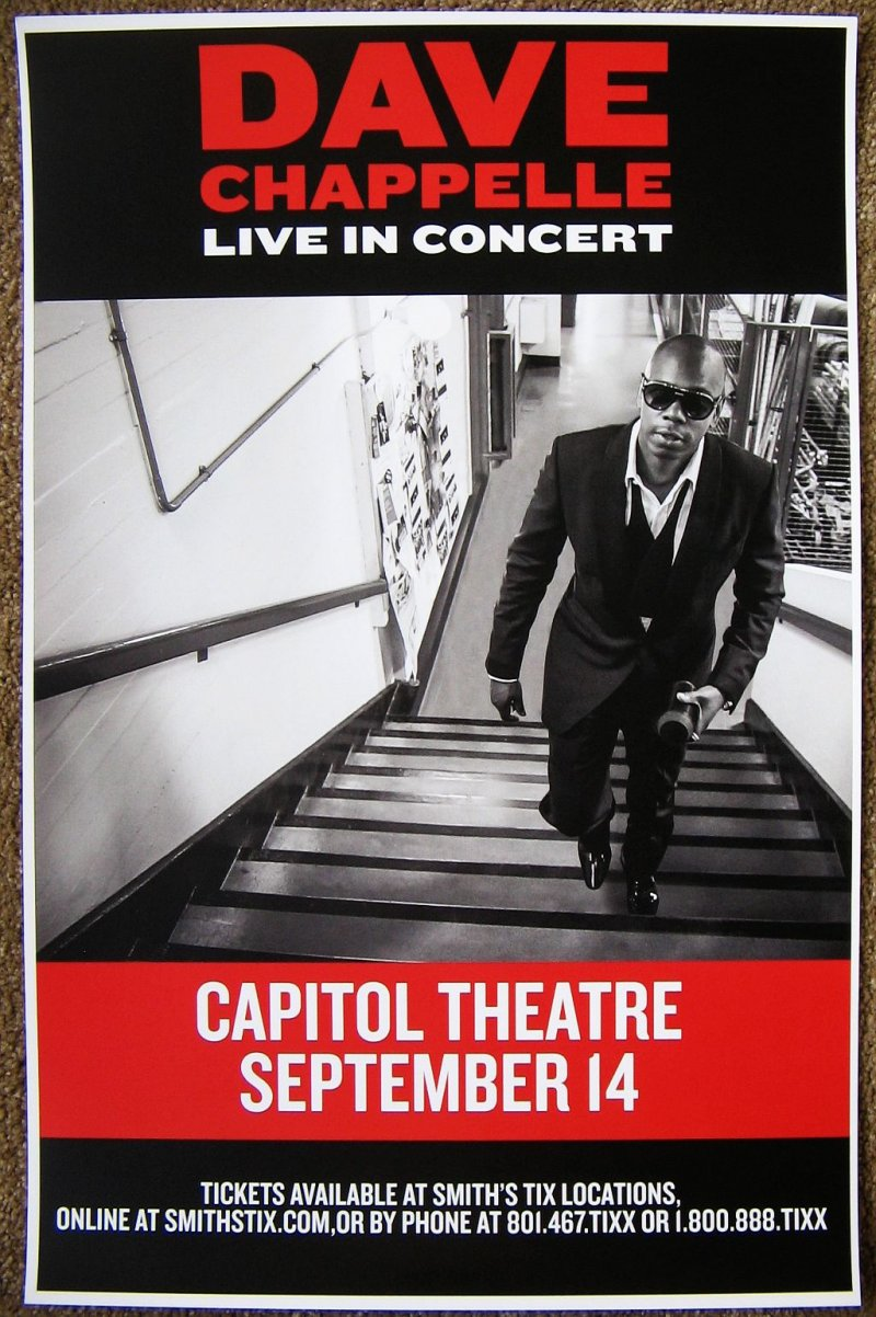 Image 0 of Chappelle DAVE CHAPPELLE 2015 Gig POSTER Salt Lake City Utah Comedy