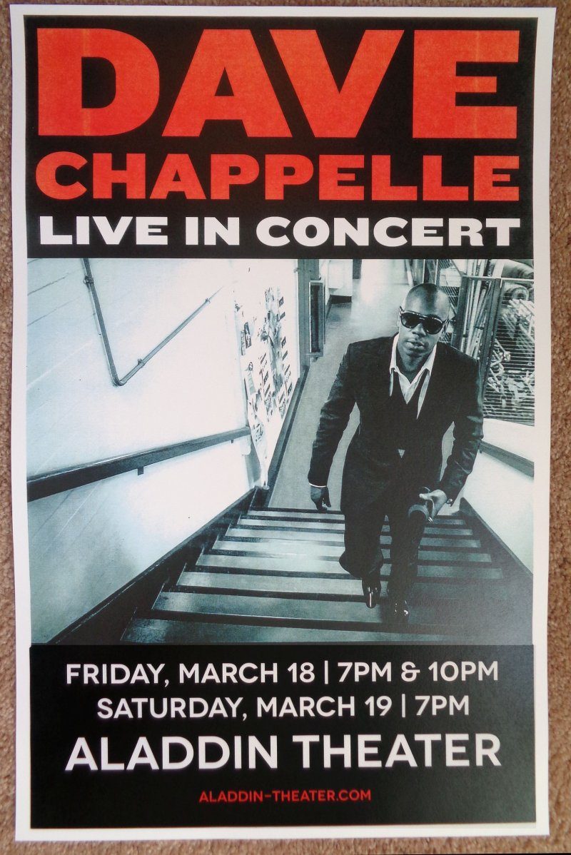 Image 0 of Chappelle DAVE CHAPPELLE 2016 Gig POSTER Portland Oregon Comedy