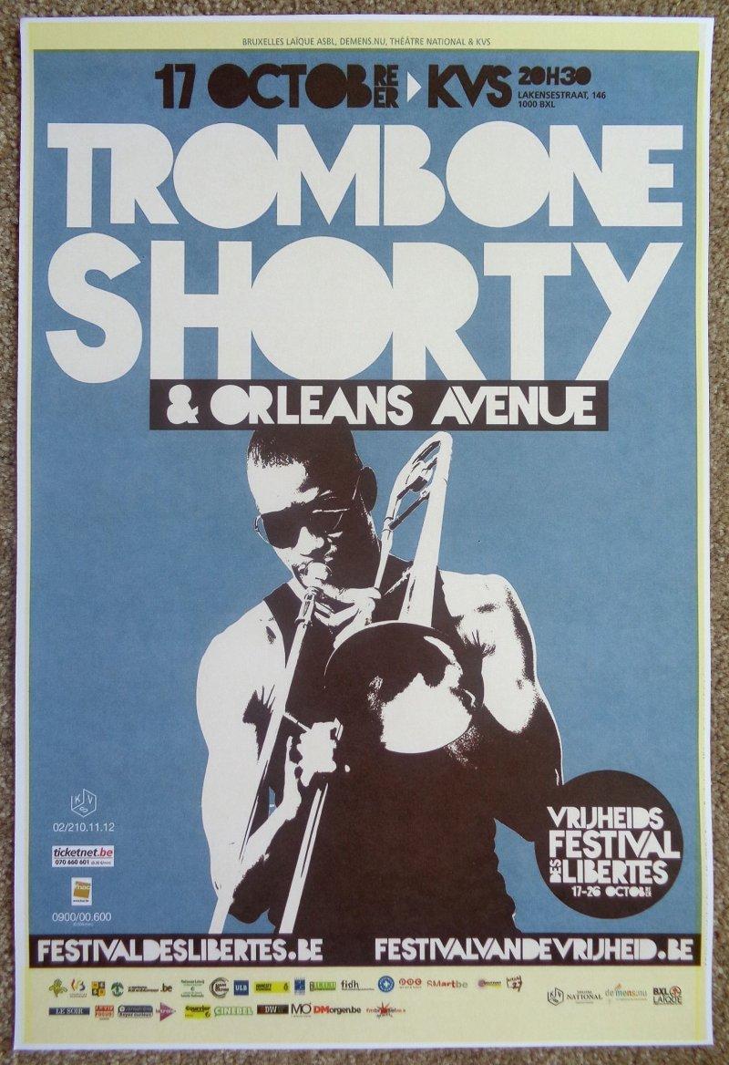 Image 0 of TROMBONE SHORTY 2013 Gig POSTER Brussels Concert Belgium ORLEANS AVENUE
