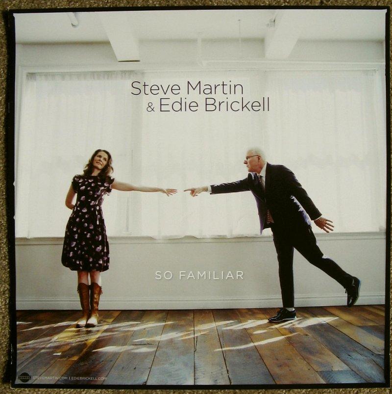 Brickell EDIE BRICKELL & STEVE MARTIN Album POSTER So Familiar 14x14