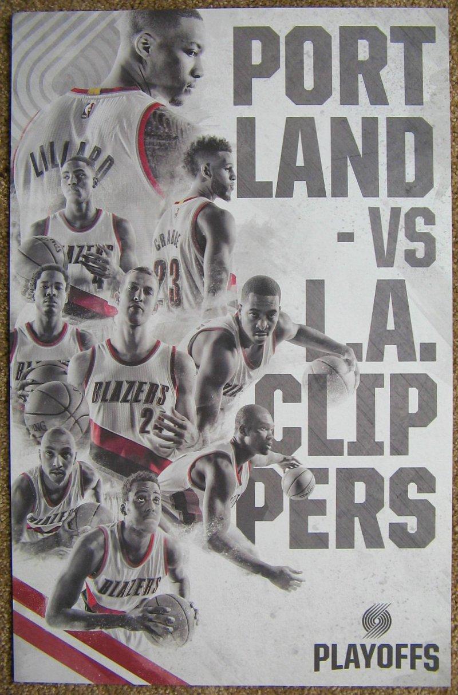 Portland Trailblazers 2015-16 Playoff POSTER Handout Blazers LA Clippers Lillard