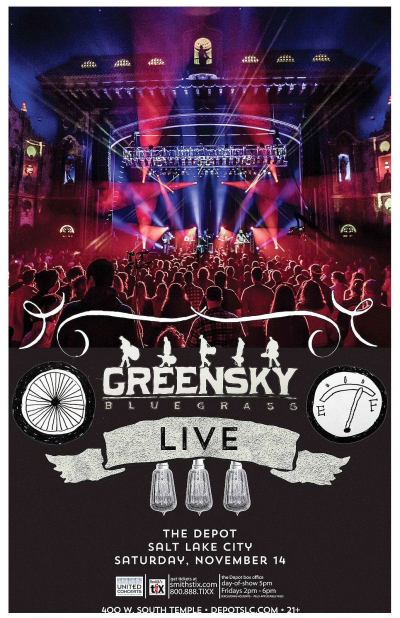 Image 0 of GREENSKY BLUEGRASS 2015 Gig POSTER Salt Lake City Utah Concert