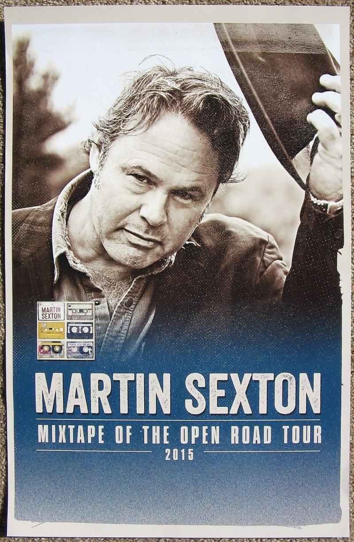 Image 0 of Sexton MARTIN SEXTON Album POSTER Mixtape Of The Open Road Tour