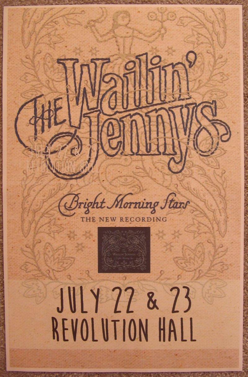 Image 0 of WAILIN' JENNYS 2016 Gig POSTER Portland Oregon Concert Bright Morning Stars