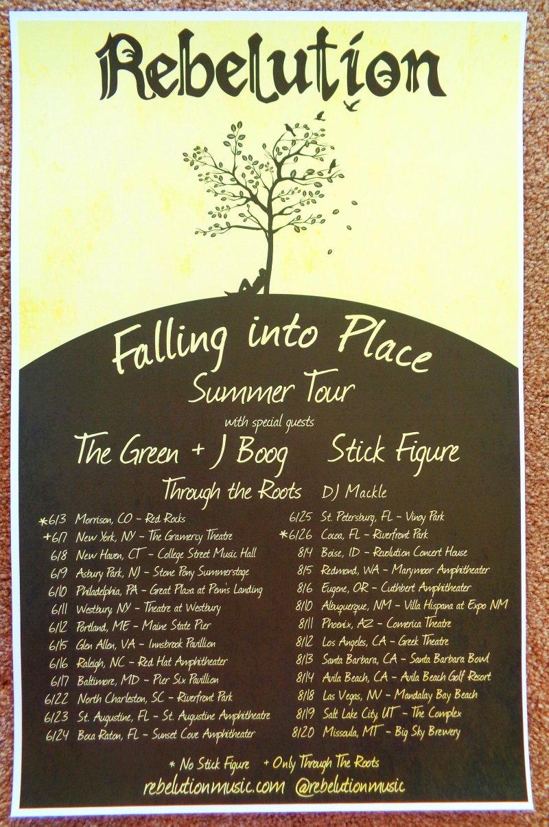 Image 0 of REBELUTION 2016 Tour POSTER Summer Gig Concert