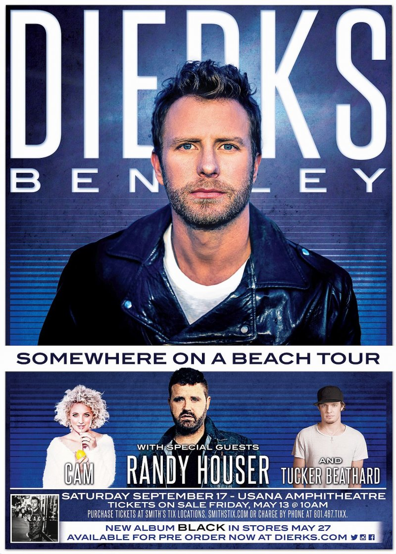 Bentley DIERKS BENTLEY 2016 Gig POSTER Utah Concert