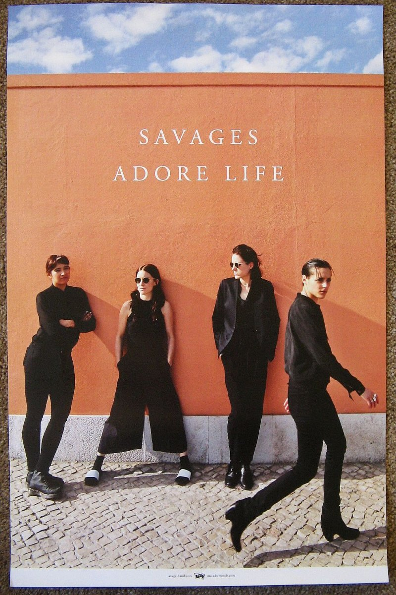 Image 0 of SAVAGES Adore Life POSTER 2-Sided 11x17