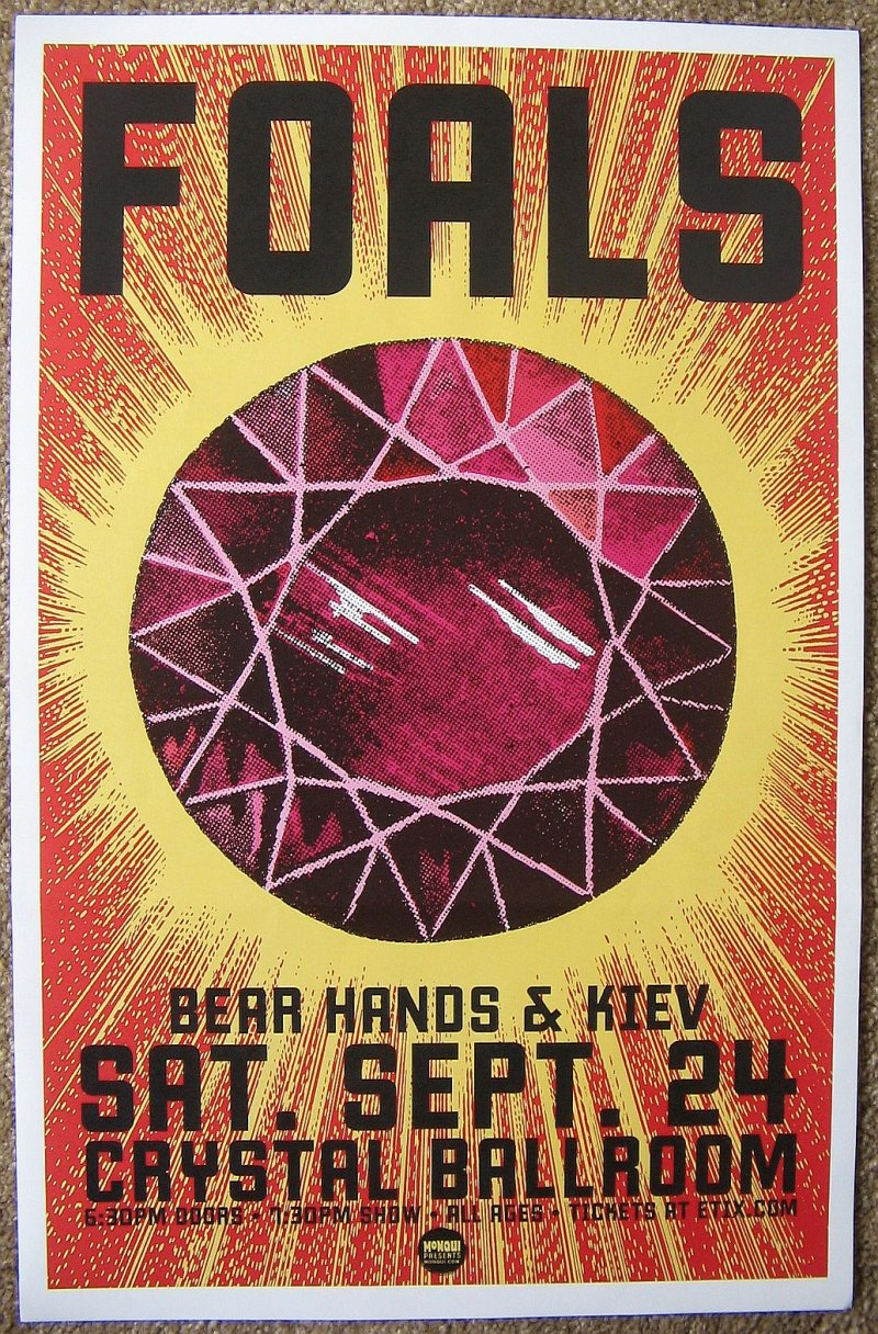 Image 0 of FOALS 2016 Gig POSTER What Went Down Portland Oregon Concert