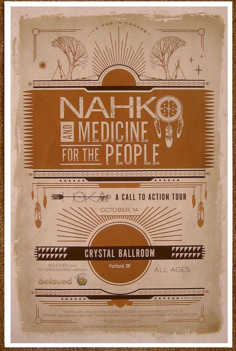 Image 0 of NAHKO AND MEDICINE FOR THE PEOPLE 2016 POSTER Gig Portland Oregon Concert