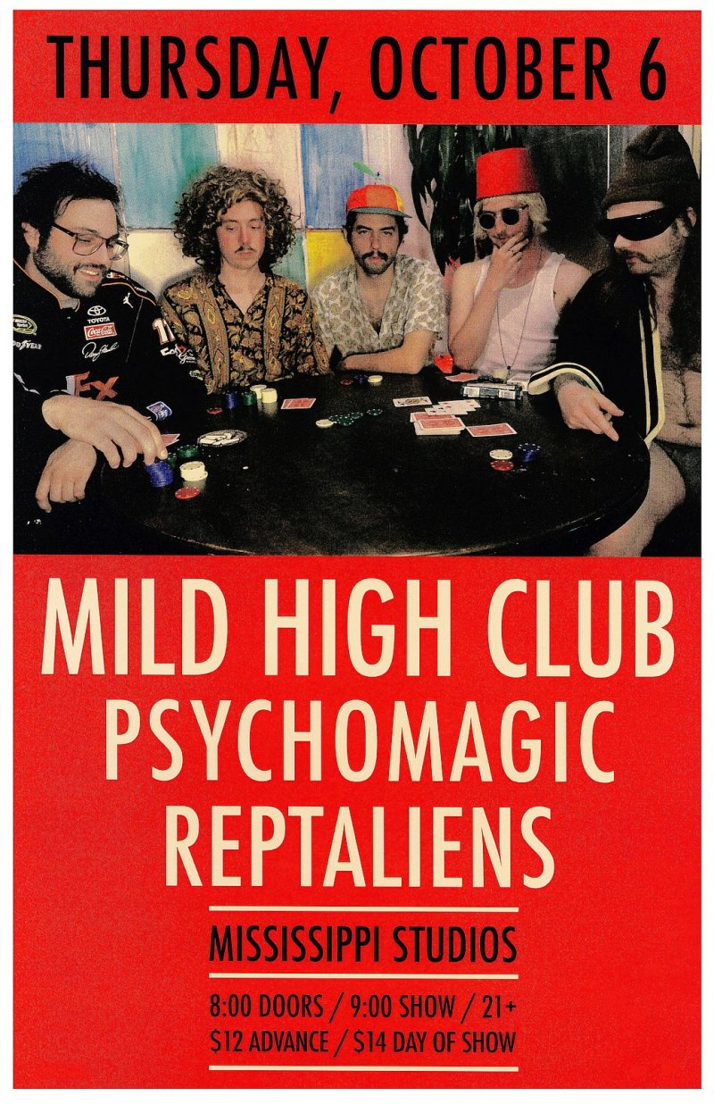 Image 0 of MILD HIGH CLUB 2016 Gig POSTER Portland Oregon Concert
