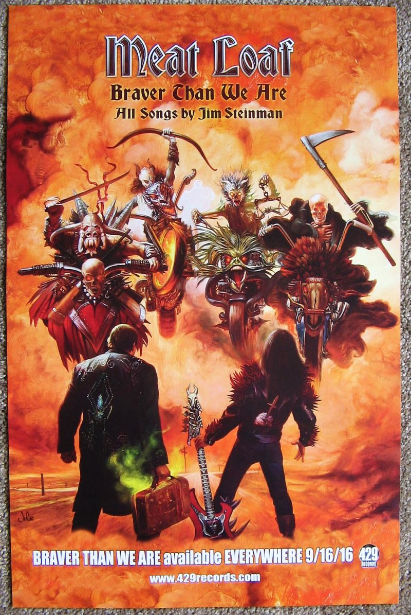 Image 0 of MEAT LOAF Album POSTER Braver Than We Are 11x17