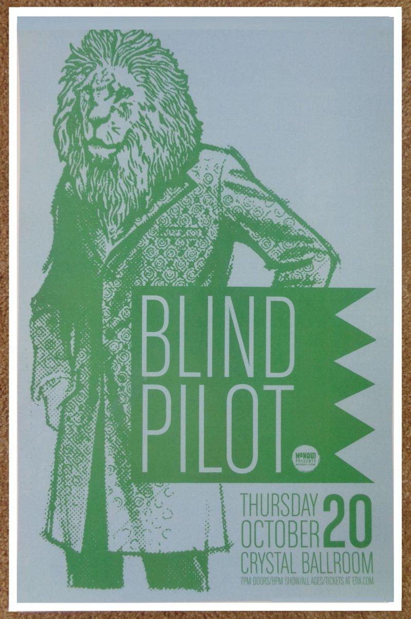 Image 0 of BLIND PILOT 2016 Gig POSTER Portland Oregon Concert