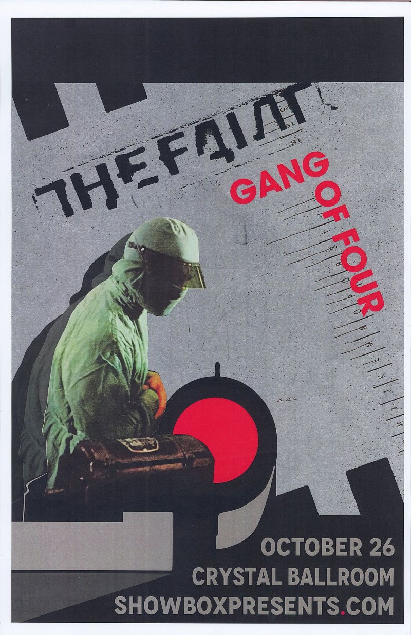 Image 0 of GANG OF FOUR & THE FAINT 2016 POSTER Gig Portland Oregon Concert