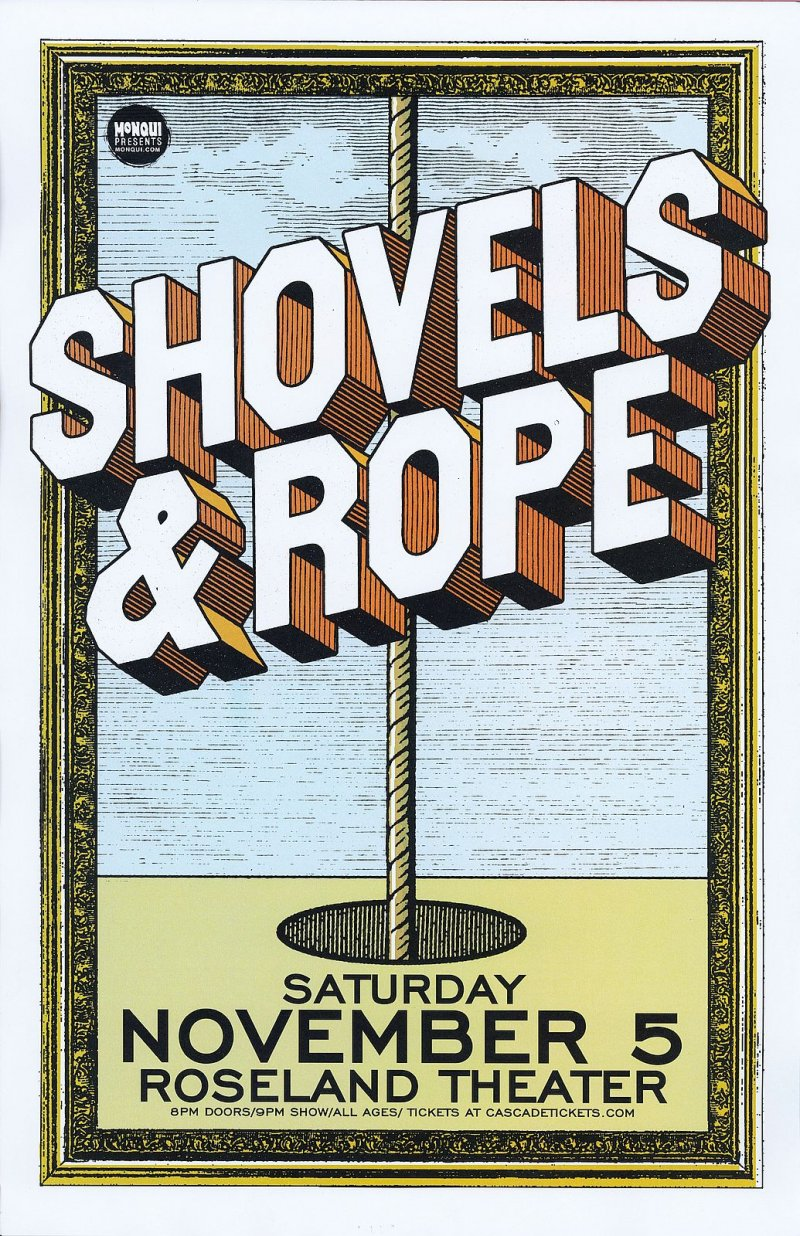 Image 0 of SHOVELS AND ROPE 2016 Gig POSTER Portland Oregon Concert
