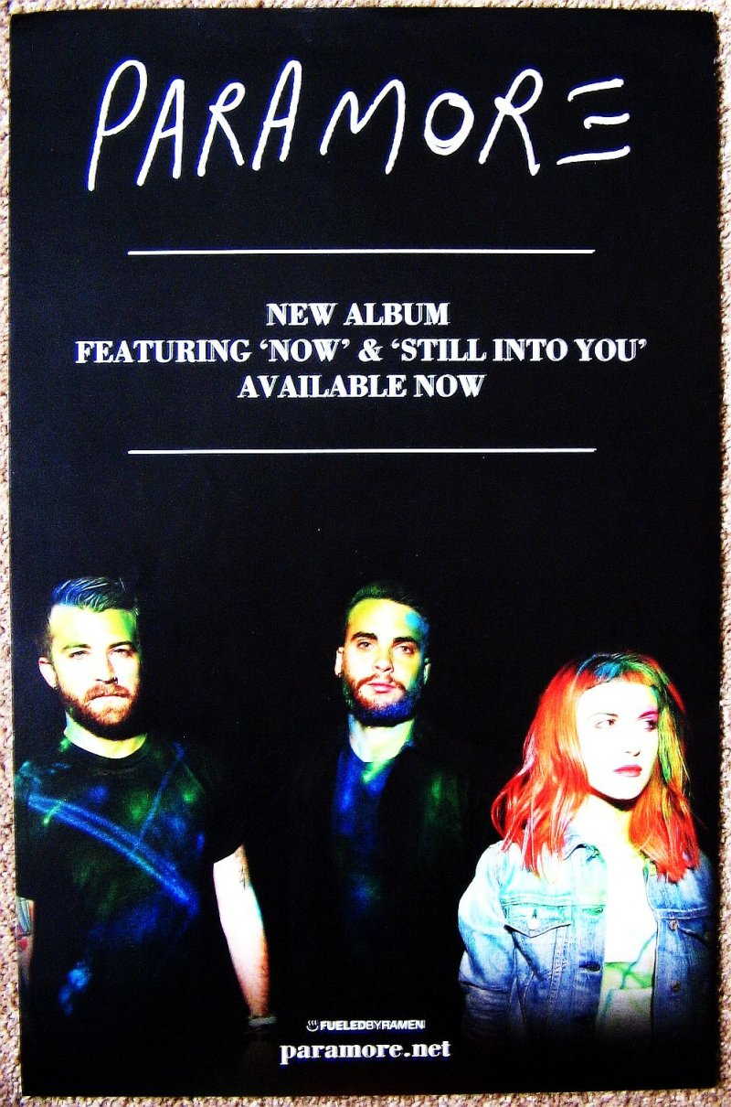 Image 0 of PARAMORE Album POSTER Self-Titled 2-Sided 11x17 Hayley Williams