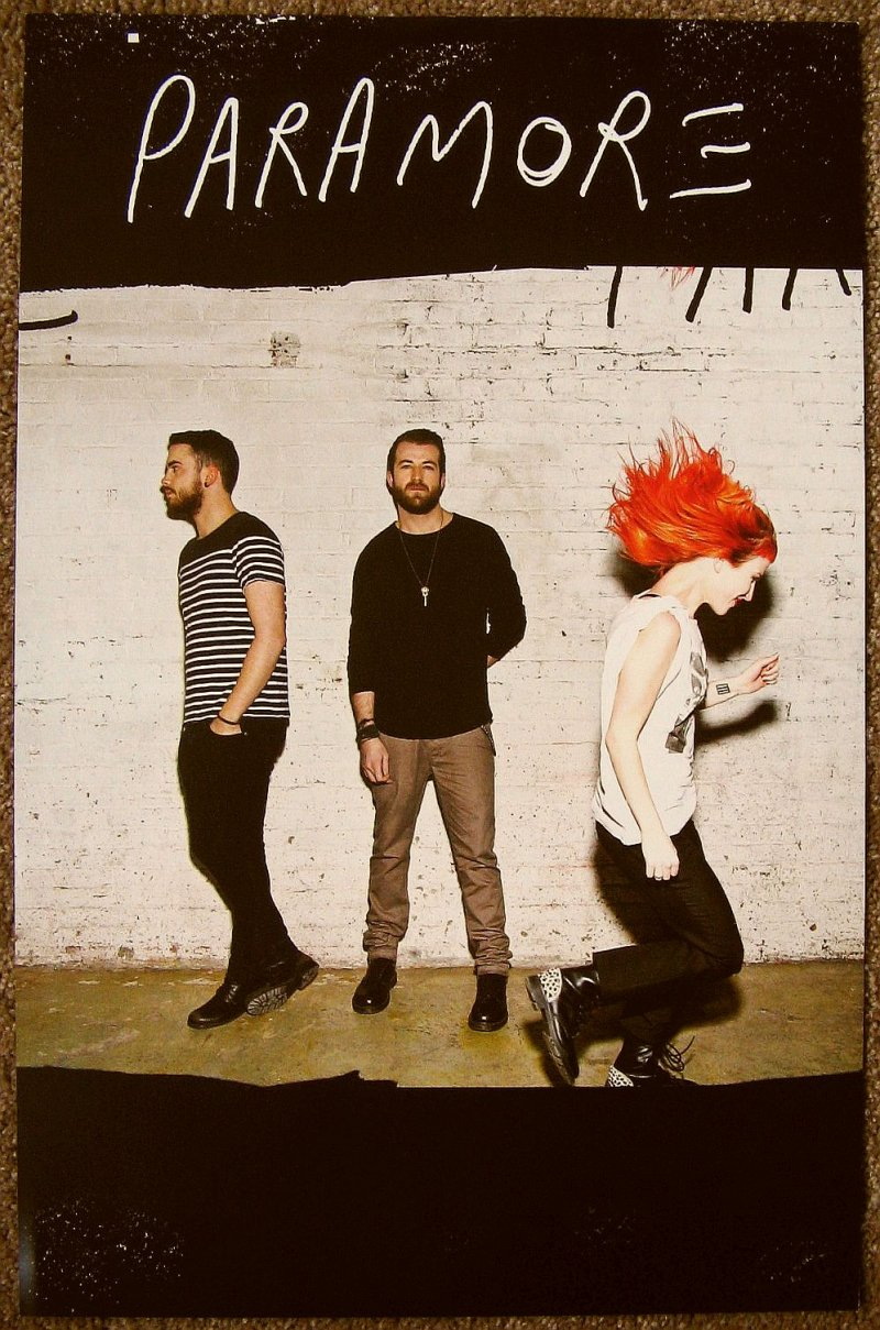 Image 1 of PARAMORE Album POSTER Self-Titled 2-Sided 11x17 Hayley Williams