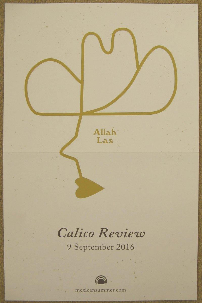 ALLAH LAS Album POSTER Calico Review 11x17