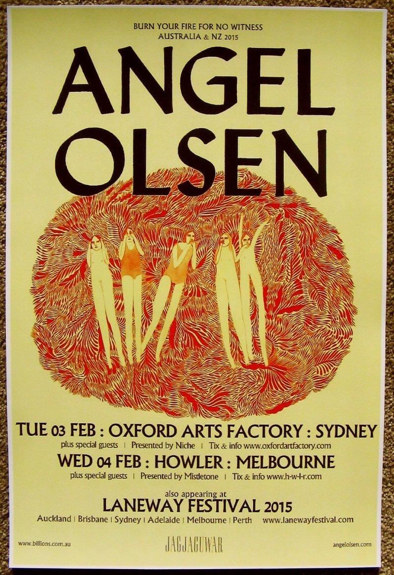 Image 0 of Olsen ANGEL OLSEN 2015 Tour POSTER Australia Gig Concert