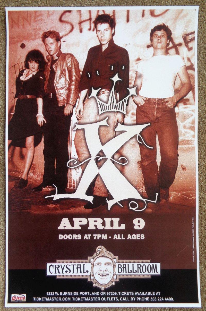 Image 0 of X Band POSTER JOHN DOE / EXENE / BONEBRAKE / BILLY ZOOM Oregon 2009 Gig Concert