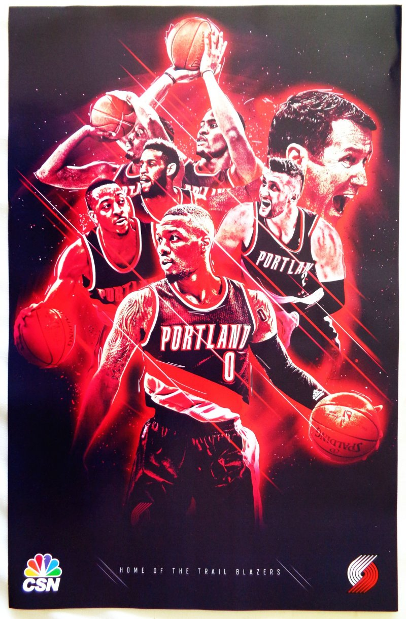 Portland Blazers JUSUF NURKIC +6 POSTER Game Handout Trailblazers SGA Lillard