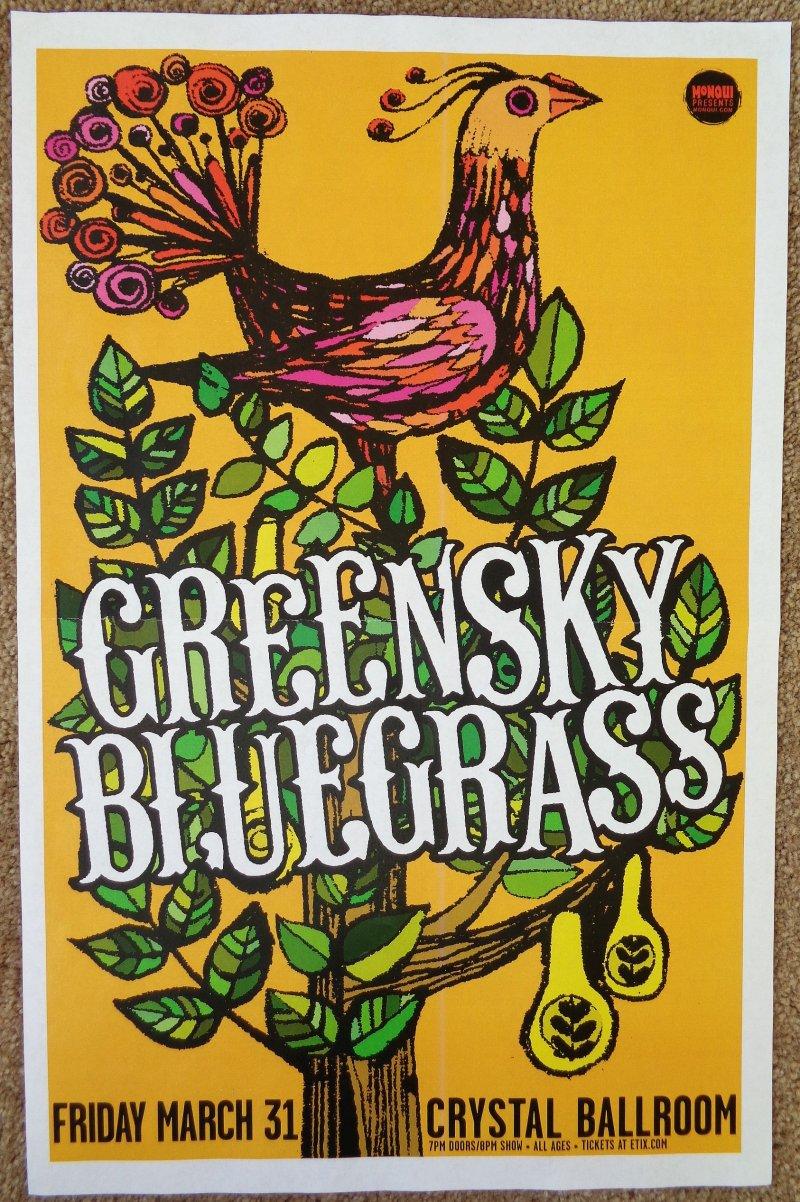 Image 0 of GREENSKY BLUEGRASS 2017 Gig POSTER Portland Oregon Concert