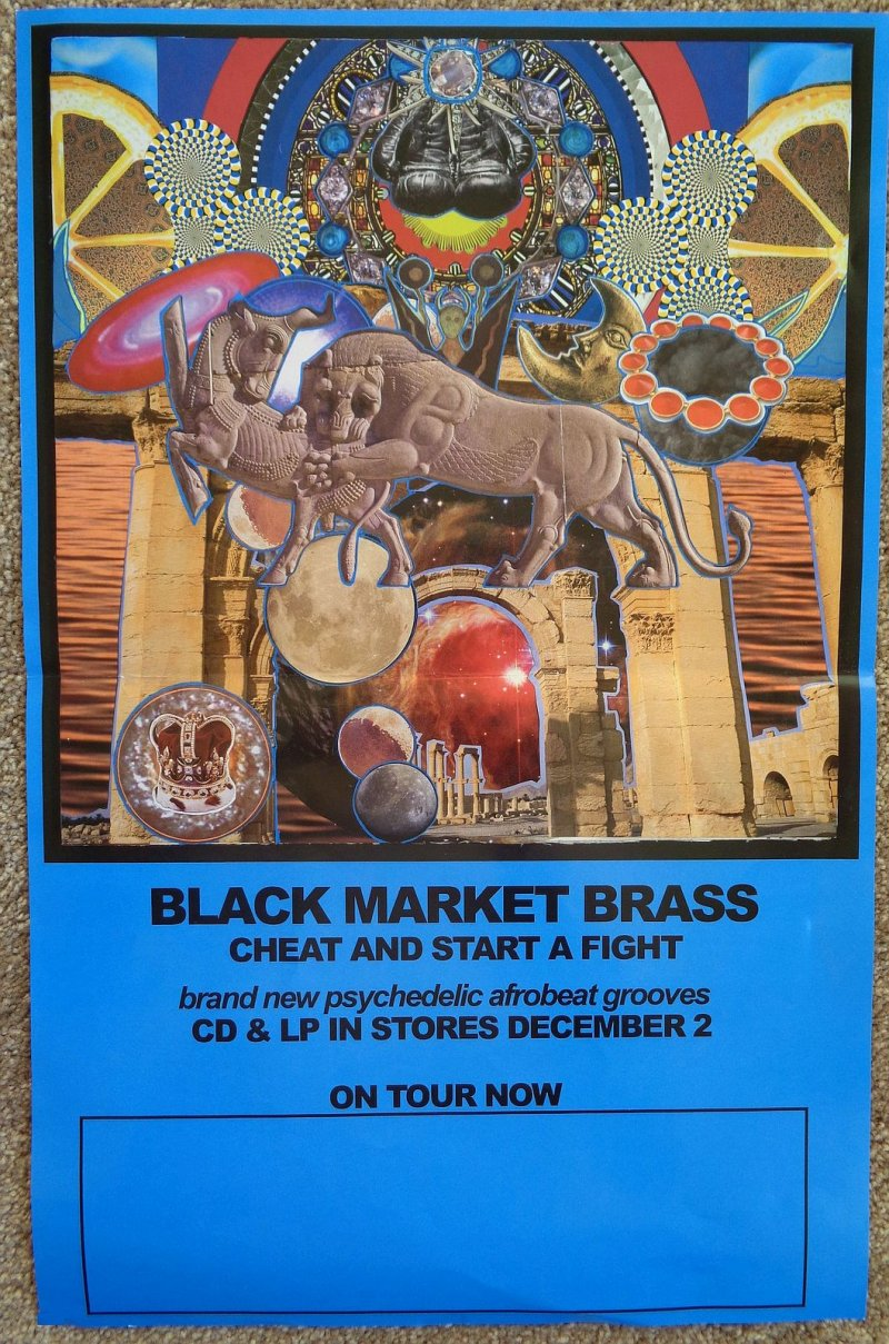 BLACK MARKET BRASS & SONNY KNIGHT & THE LAKERS POSTER 2 Sided Cheat Start Fight
