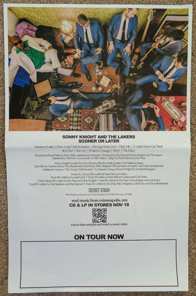 Image 1 of BLACK MARKET BRASS & SONNY KNIGHT & THE LAKERS POSTER 2-Sided Cheat Start Fight