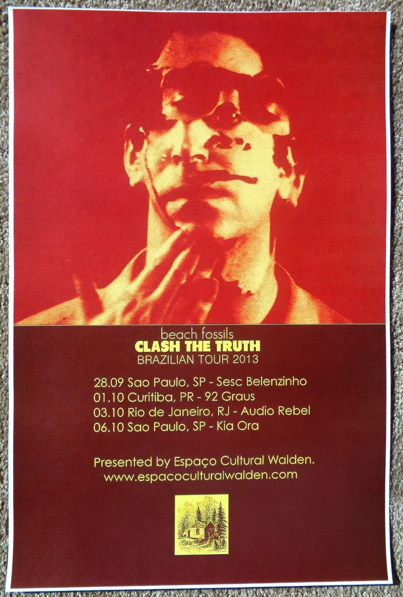 Image 0 of BEACH FOSSILS 2013 Tour POSTER BRAZIL Gig Concert Clash The Truth