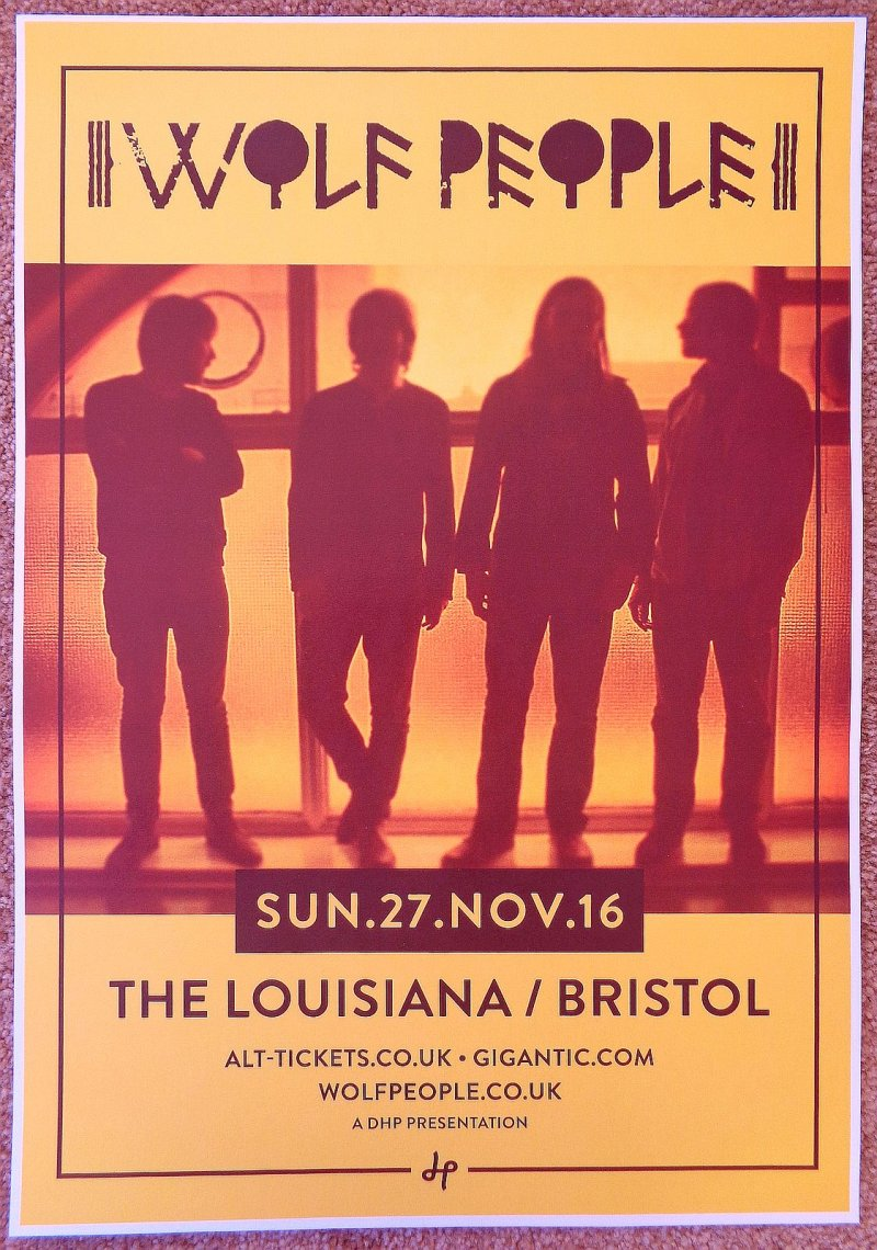 Image 0 of WOLF PEOPLE 2016 Gig POSTER Bristol Concert United Kingdom