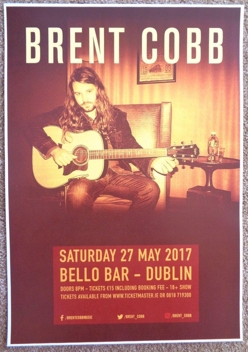 Cobb BRENT COBB 2017 Gig POSTER Dublin Ireland Concert
