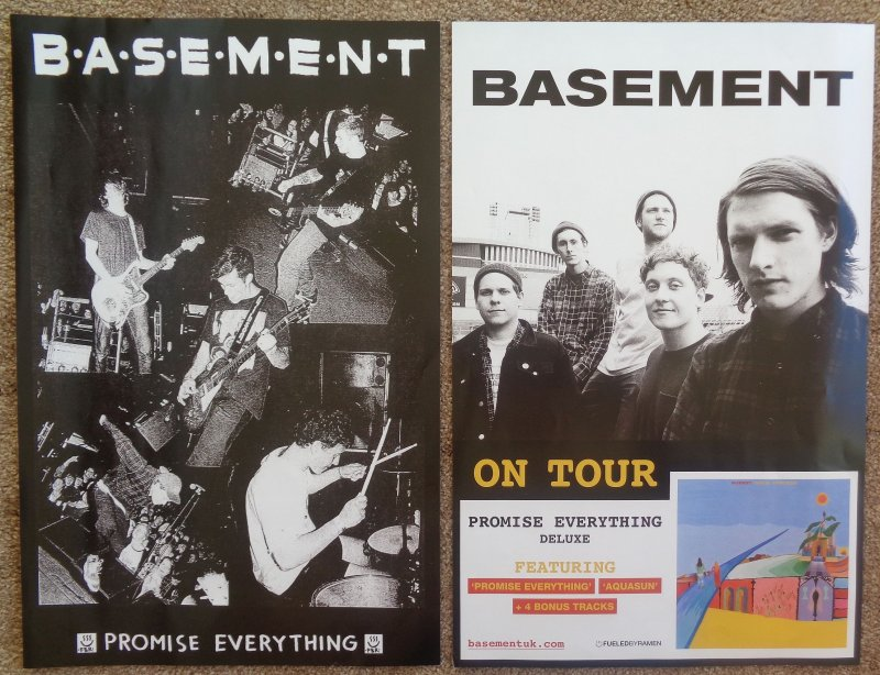 BASEMENT Album POSTER Promise Everything 2-Sided 11x17