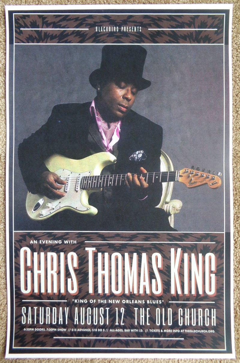 King CHRIS THOMAS KING 2017 Gig POSTER Portland Oregon Concert Blues