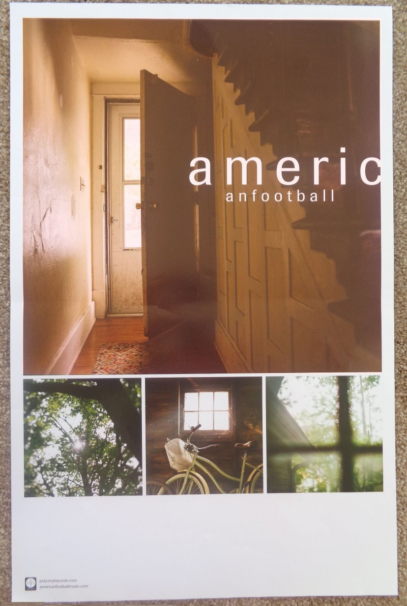 Image 0 of AMERICAN FOOTBALL Album POSTER Self-Titled 11X17