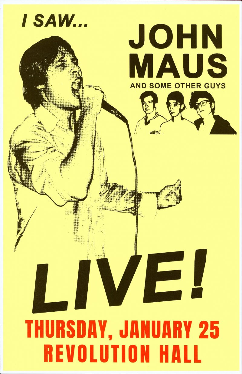 Image 0 of Maus JOHN MAUS 2018 Gig POSTER Portland Oregon Concert