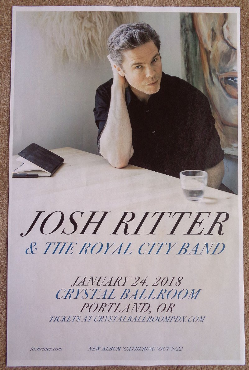 Image 0 of Ritter JOSH RITTER 2018 POSTER Gig Portland Oregon Concert Version 1 of 2