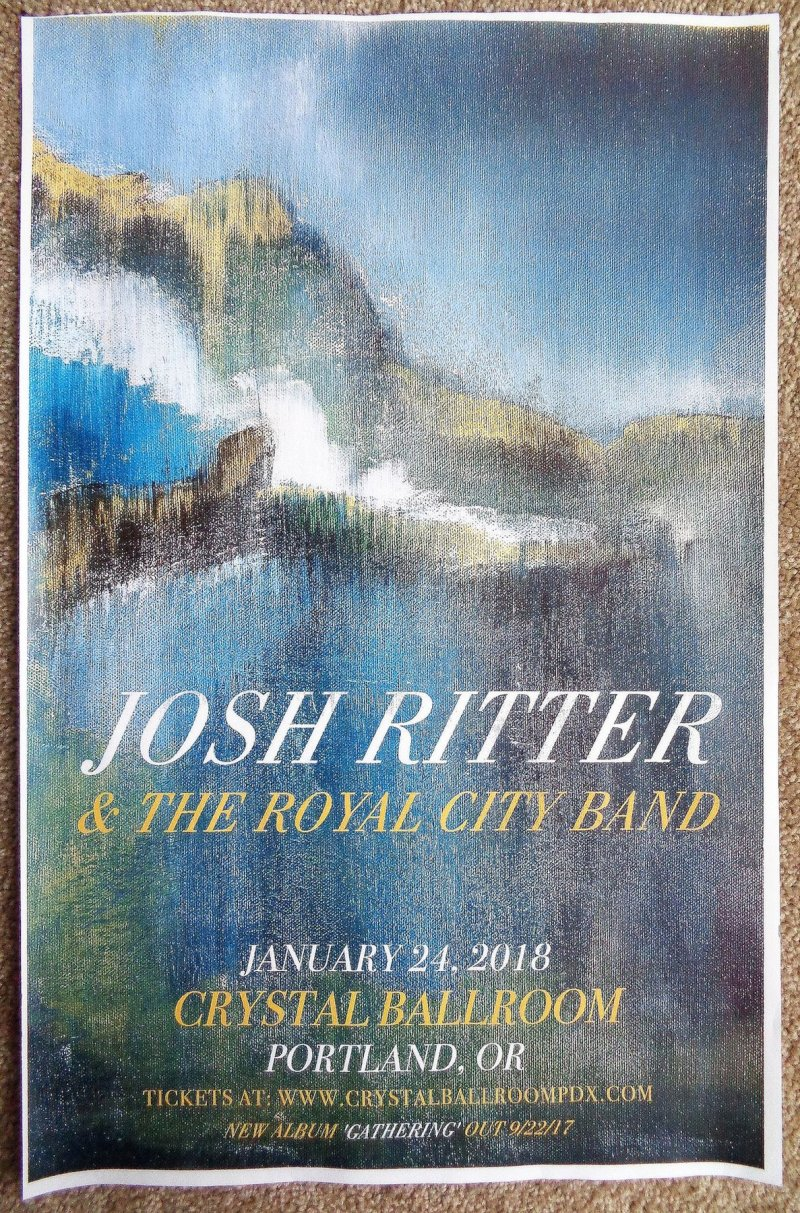 Image 0 of Ritter JOSH RITTER 2018 POSTER Gig Portland Oregon Concert Version 2 of 2