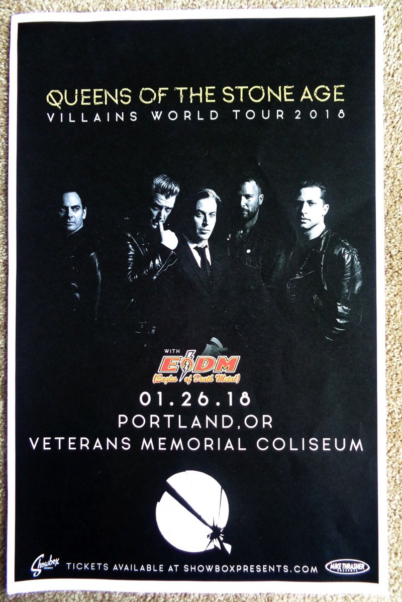 QUEENS OF THE STONE AGE 2018 Gig POSTER Portland Oregon Concert