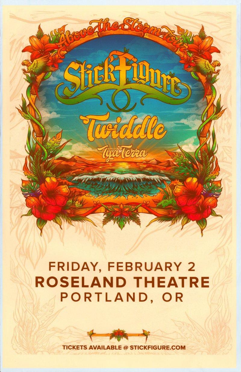 Image 0 of STICK FIGURE 2018 Gig POSTER Portland Oregon Concert