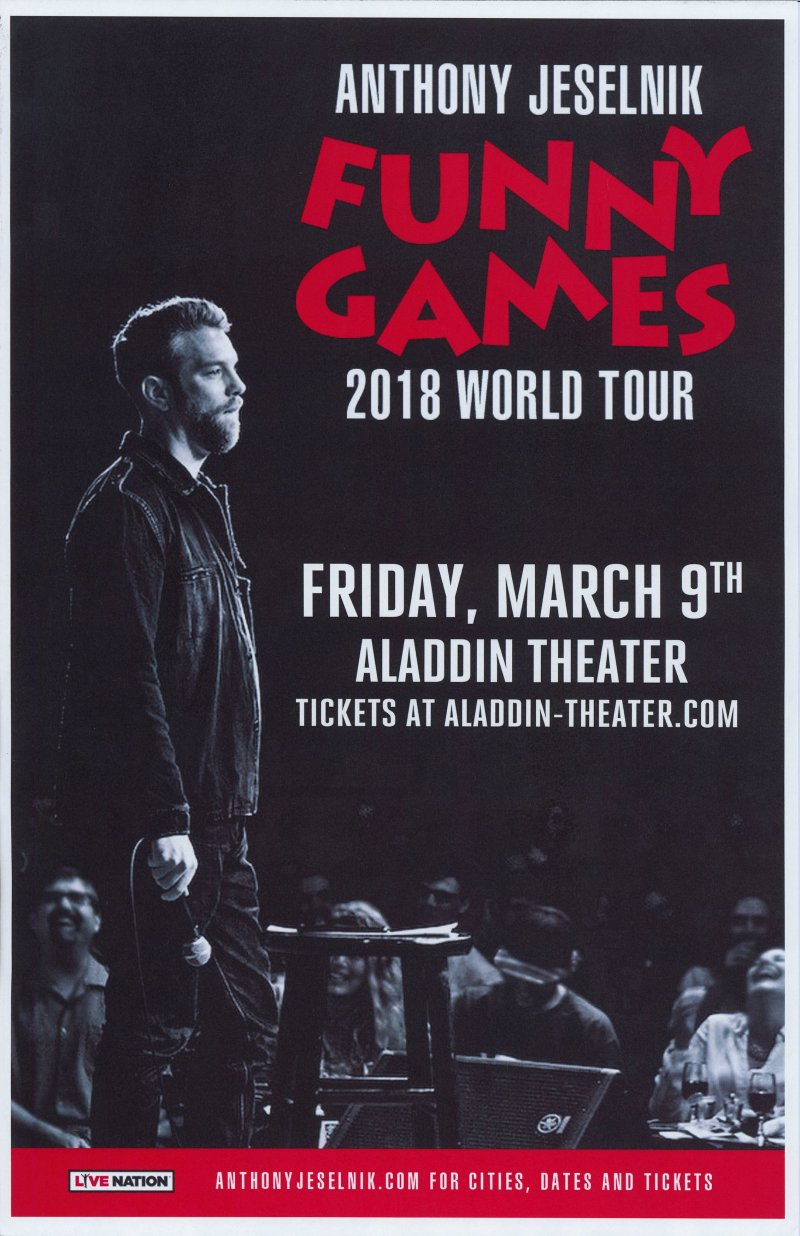 Image 0 of Jeselnik ANTHONY JESELNIK 2018 POSTER Gig Comedy Portland Oregon