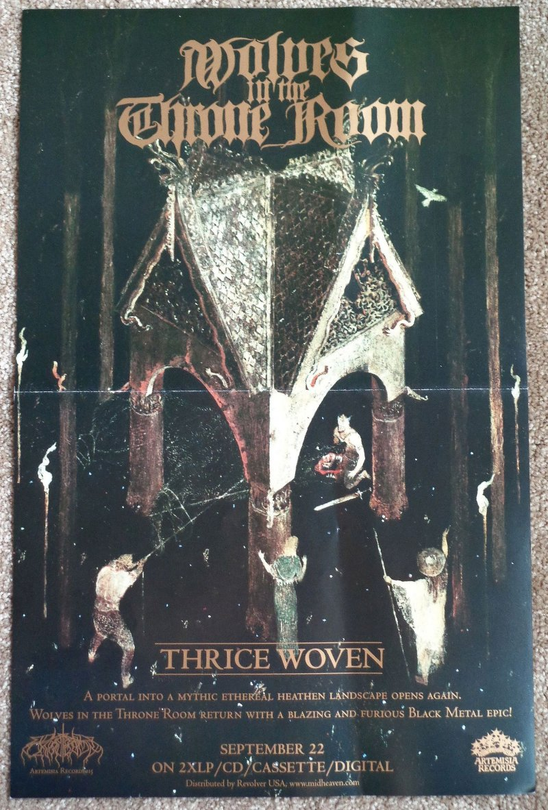 Image 0 of WOLVES IN THE THRONE ROOM Album POSTER Thrice Woven 11x17